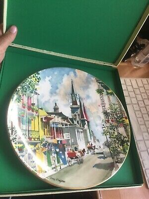 Dong KingmanFrench Quarter,New Orleans Royal Doulton Plate No.10905/15000 • 8£