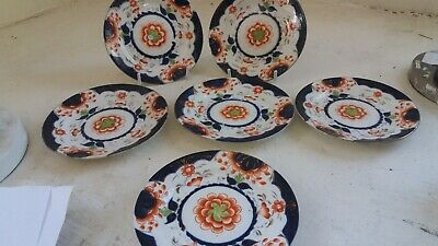 Set Of 6 Gaudy Welsh Side Plates , Ref 38  • 0.99£