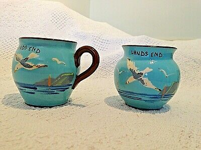 Rare Vintage Watcombe Torquay Ware Blue Seagull Milk Jug And Sugar Bowl • 21.99£