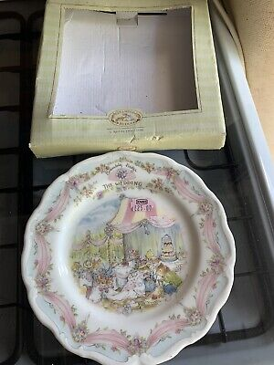 ROYAL DOULTON THE WEDDING BRAMBLY HEDGE PLATE 99p 🙂🙂 • 11.50£