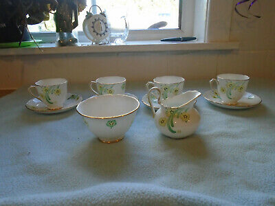 Four New Chelsea Cups And Saucers Jug And Bowl • 20£