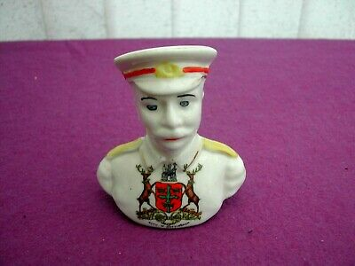 Arcadian Crested China Ww1 Tommy Atkins Bust. City Of Nottingham • 19.99£