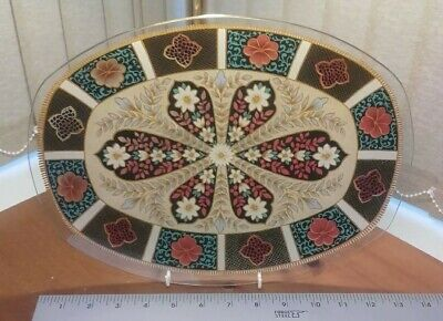 LARGE CHANCE GLASS  ~GRANTLEIGH~glass Platter C.1970's VGC • 12.99£