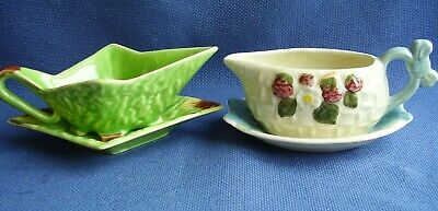 Shorter & Son, Staffordshire - 2 Vintage Collectable Sauce Boats + Stands - Vgc • 4.99£