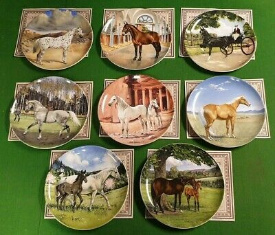 Set Of 8 The Noble Horse Plates By Susie Whitcombe Spode • 35£