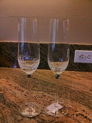 Pier 1 CRACKLE 2 Champagne Flutes New Multiples Available  • 44.83£