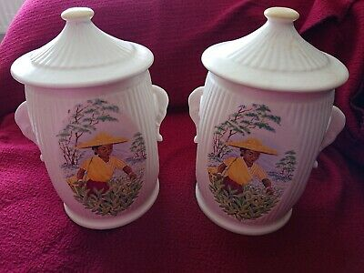 2 Sylvac Tea Caddys 1950s • 6£