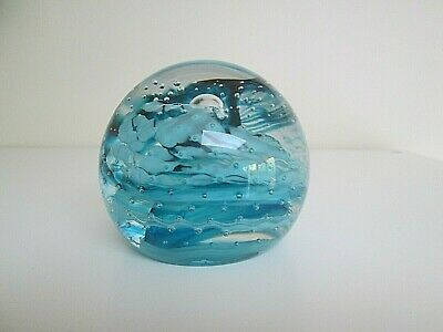 Caithness Journey Scotland Paperweight (no Box) Large Light Blue • 5£