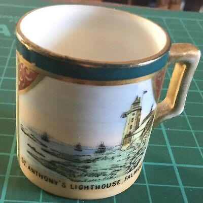 Gemma Crested Bone China Miniature Cup ~ St. Antony's  Lighthouse Falmouth • 1.95£