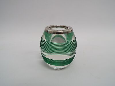Decorative Glass Ornaments/Candle Holder Sterling Silver Rim.   - S52 • 11.50£