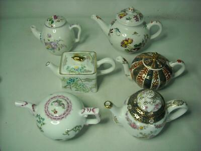 5x MINIATURE TEAPOTS - PRIVATE LISTING For Heehyun - Franklin Mint Recreations • 67.25£