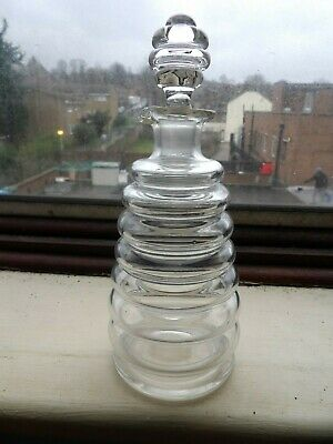 Gorgeous Art Deco Tall Beehive Shaped Hand Blown Honey Or Oil Pourer And Lid • 29.47£