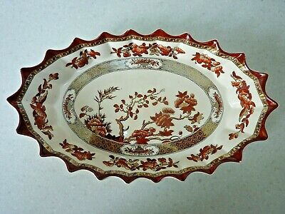 Rare Vintage Copeland Spode India Tree Oval Serving Dish With Older Marks • 49.99£