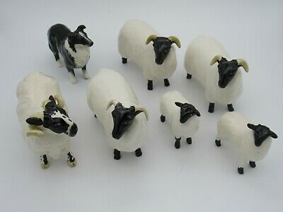 Vintage Beswick 7 Piece Farm Animals Collection Perfect Condition • 125£