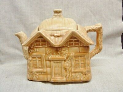 Lovely 1940s Brown Teapot Cottage Shape Price Kensington Great Condition Country • 4.99£