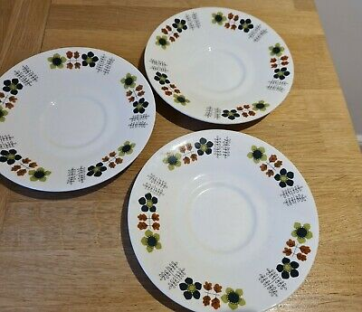 Vintage Lord Nelson Pottery Saucers Flowers Pattern • 8.87£