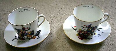 Hammersley Bone China Cup & Saucer Edward The Black Prince & Harry Hotspur Percy • 19.95£