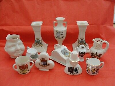 Unmarked Crested Ware, No Damage But Some Wear. Interesting Items • 3.90£