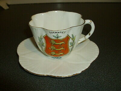 Crested Ware / Cup And Saucer / Guernsey • 1£