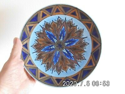 George Clews Chameleon Ware Wall Plate 11/116 - Blue Flame • 5.99£
