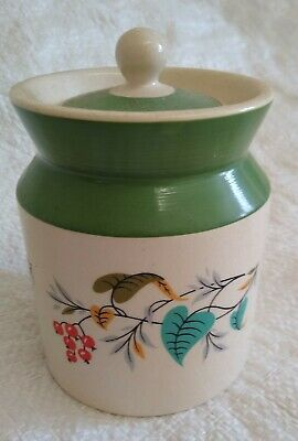 Vintage Wade Pottery Cannister  Berries And Leaves • 6.50£