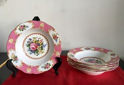 Royal Albert LADY CARLYLE. Lipped SOUP Plates 8 Inch Excellent  • 20£