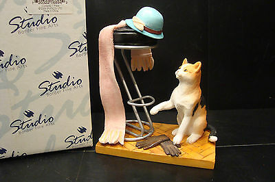 Original Studio Border Fine Arts Cats Round The House A6894 Tempted Cat Figure • 14.99£