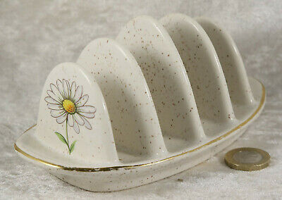Kernewek Cornwall Pottery Toast Rack With Daisy Floral Pattern Breakfast Item  • 2.50£