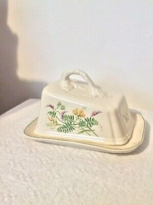 Vintage Royal Winton Large Floral Butter / Cheese Dish • 6.50£