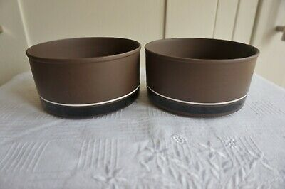 Hornsea Pottery 'Contrast' Cereal/Oatmeal Bowls Straight Sided  X  2  Tableware • 4.30£
