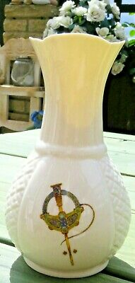 Belleek Vase White- Cream - Donegal Millennium 2000 AD Ireland - FREE POST UK • 9.99£