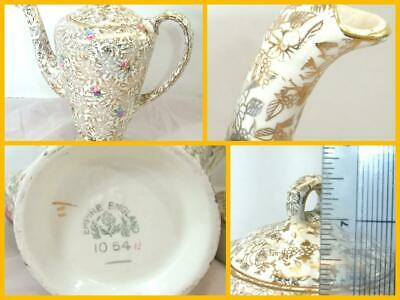 Empire England China Floral Gold Chinzware Coffee Pot GREAT CONDITION • 39.49£