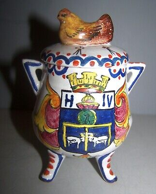 CA ALCIDE CHAUMEIL N QUIMPER French Faience Mustard With Chicken • 133.65£