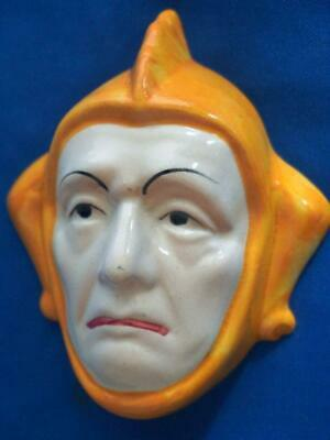 Vintage Small Ceramic Jester Wall Plaque Face Mask • 29.75£