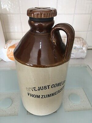 Large Early Somerset Cider Flagon With Stopper Made In England By Pearsons  • 5.96£