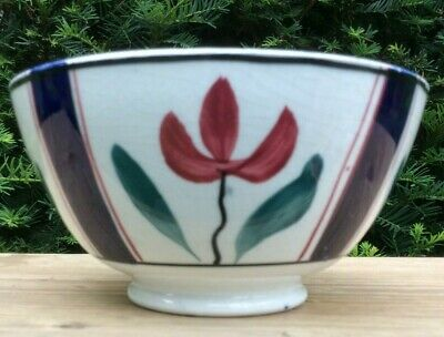 Arts & Crafts 6  Bowl Norman W Franks Cottage Pottery 1910-20 Spongeware • 16£