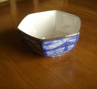 Wade For Ringtons Hexagon Shaped Blue & White Bowl---northern Bridges Design. • 3.99£