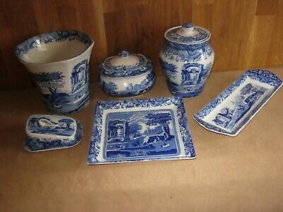 SPODE ITALIAN SMALL & LARGE PIECES X 6 • 35£