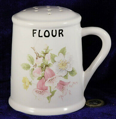 Brixham Pottery Flour Shaker With Stopper Foxglove Floral Pattern Collectable  • 3£