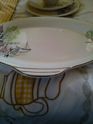 Vintage Alfred Meakin Montmatre Sandwich Set. Trio With Oval Serving Tray • 12.50£