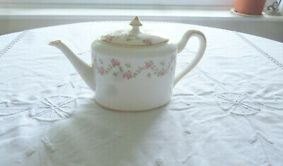 Beautiful Unsual Shaped Crown Staffordshire Antique Teapot  • 4£