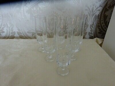 Lead Crystal Cut Glass Footed Champagne Flutes Wine Prosecco 16cm Tall • 14.99£