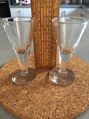 Pair Of Victorian Penny Lick Glasses • 10.70£