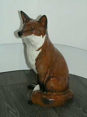 FIRESIDE MODEL BESWICK FOX 2348 12.5   32cm RED BROWN WHITE GLOSS MINT CONDITION • 225£