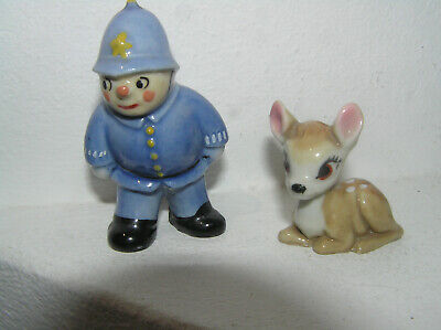 Wade Porcelain Disney Bambi + Mr Plod From Noddy Both Excellent Condition Lot • 35£