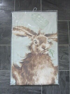 Wrendale Hare Brained Tea Towel - New And Sealed In Packet • 6.95£