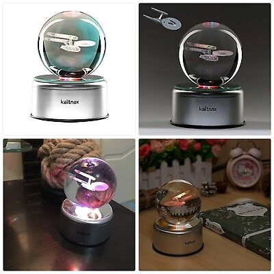 3D Cool Laser Etching Crystal Ball Night Light Gift Lamp For Kids Children Chris • 51.46£