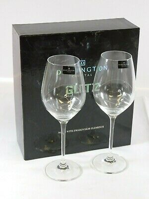 Pair Of DARTINGTON CRYSTAL GLITZ Wine Glasses - Boxed / UNUSED • 4.99£