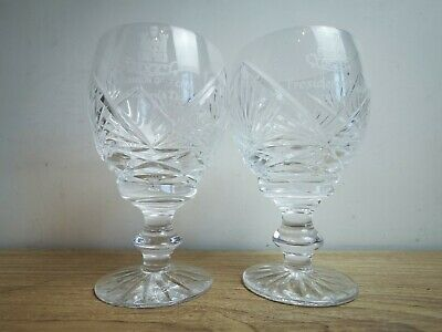 Tyrone Crystal Glasses Engraved Dungannon President 1995 & 1996 • 5£