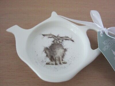 Royal Worcester Wrendale Designs HARE BRAINED  Teabag Tidy - NEW WITH LABEL • 8.95£